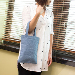 Handy Denim Shopping Bag