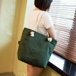 Canvas Rope Shoulder Bag