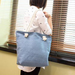 Denim Rope Shoulder Bag