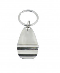 CHROME BOTTLE OPENER KEYRING