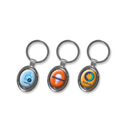 Oval Metal Key Ring