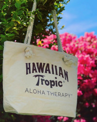 hawaiian tropic cotton canvas tote bag withers and co