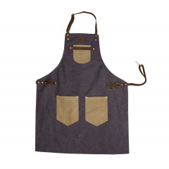 6oz Canvas Apron With Leather Straps