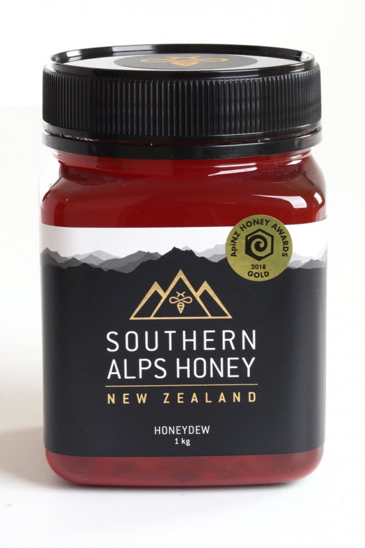 Southern Alps Honey - Beech Honeydew 1kg | NZ Made Gifts | NZ Made Corporate Gifts
